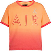 Jordan Girls' Air Ombre Ringer Short Sleeve T-Shirt