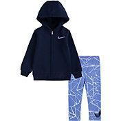 Nike Little Girls' Kintsugi Foil Full-Zip Hoodie and Leggings Set