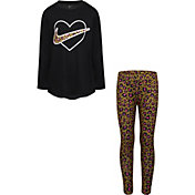 Nike Little Girls' Leopard Heart Tunic and Leggings Set