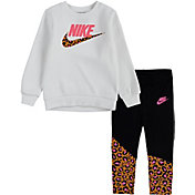 Nike Little Girls' Leopard Tunic Sweatshirt and Leggings Set