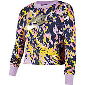 Nike Girls' Sportswear Graphic Cropped Crew Sweatshirt