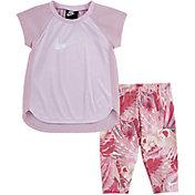 Nike Toddler Girls' Dri-FIT Raglan Tunic and Leggings Set