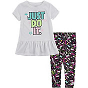 Nike Little Girls' Peplum T-Shirt and Leggings 2-Piece Set