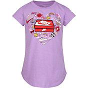 Nike Little Girls' Shoe Box Logo T-Shirt