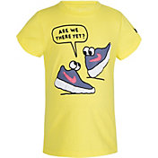 Nike Little Girls' Are We There Yet Sneaker Graphic T-Shirt