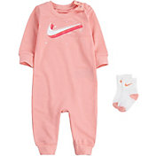 Nike Infant Girls' Swoosh Coveralls and Socks Set
