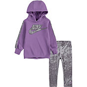 Nike Little Girls' Velour Hoodie and Leggings Set