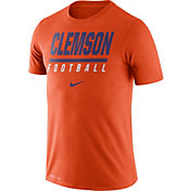 Nike Men's Clemson Tigers Orange Football Icon Wordmark T-Shirt