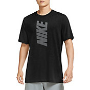 Nike Men's Dri-FIT Cotton Slub Block Logo Training T-Shirt