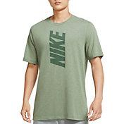 Nike Men's Dri-FIT Cotton Slub Block Logo Training T-Shirt