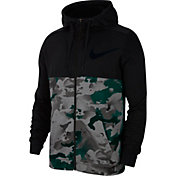 Nike Men's Dri-FIT Full-Zip Camo Training Hoodie