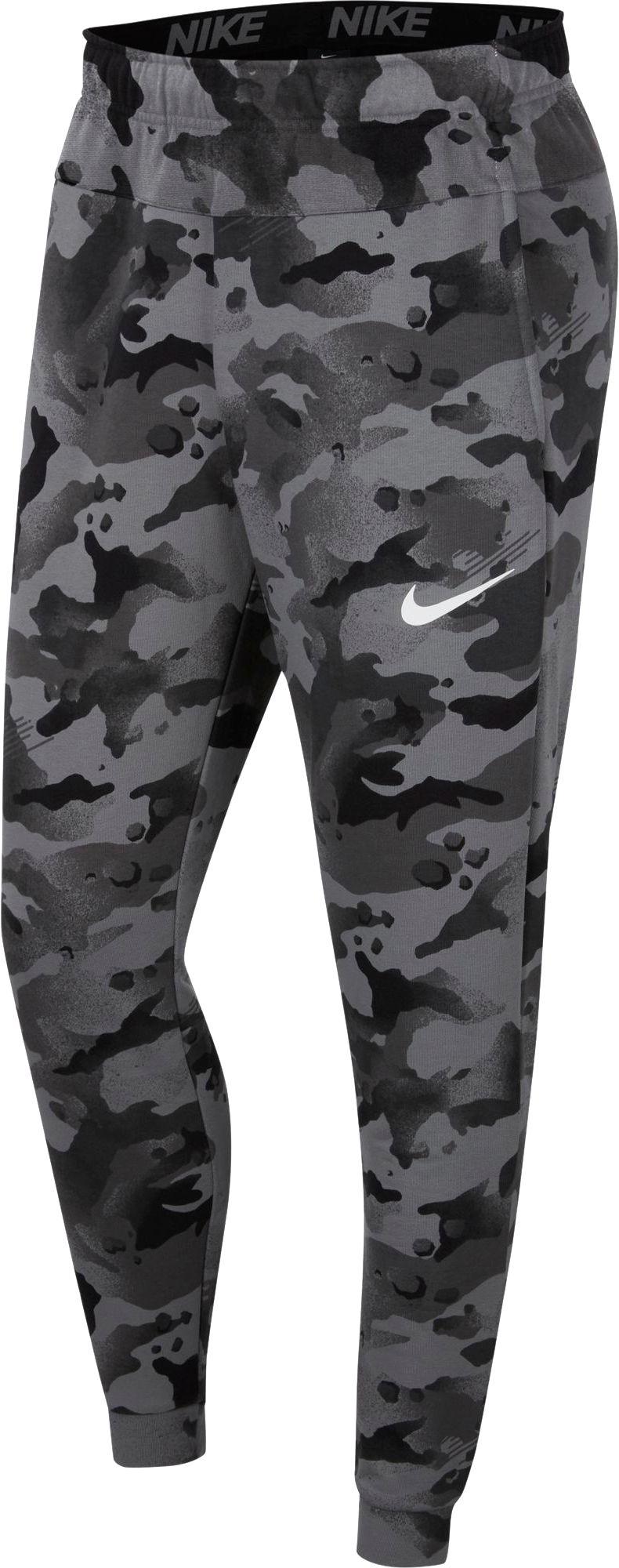 Nike Men's Dri-FIT Camo Training Pants, Small, Black
