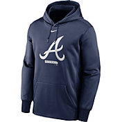 Nike Men's Atlanta Braves Navy Therma Logo Pullover Hoodie