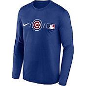 Nike Men's Chicago Cubs Blue Authentic Collection Legend Long Sleeve T-Shirt