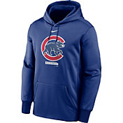 Nike Men's Chicago Cubs Blue Therma Logo Pullover Hoodie