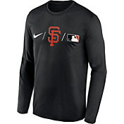 Nike Men's San Francisco Giants Black Authentic Collection Legend Long Sleeve T-Shirt