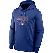 Nike Men's New York Mets Blue Dri-FIT Therma Pullover Hoodie