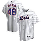 Nike Men's Replica New York Mets Jacob DeGrom #48 Cool Base White Jersey