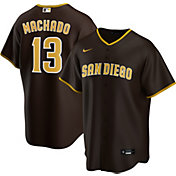 Nike Men's Replica San Diego Padres Manny Machado #13 Cool Base Brown Jersey