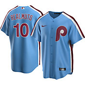 Nike Men's Replica Philadelphia Phillies J.T. Realmuto #10 Blue Cool Base Jersey