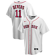 Nike Men's Replica Boston Red Sox Rafael Devers #11 Cool Base White Jersey