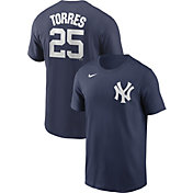 Nike Men's New York Yankees Gleyber Torres #25 Navy T-Shirt