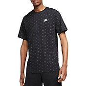 Nike Men's Sportswear Mini Swoosh Allover Printed Short Sleeve T-Shirt