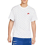 Nike Men's Sportswear Mini Swoosh Allover Printed Short Sleeve T-Shirt