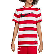 Nike Men's Sportswear Striped Swoosh T-Shirt
