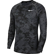 Nike Men's Pro 365 Camo Print Long Sleeve Shirt