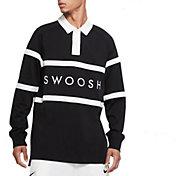 Nike Men's Sportswear Swoosh Rugby Long Sleeve Shirt