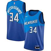 Nike Men's 2020-21 City Edition Milwaukee Bucks Giannis Antetokounmpo #34 Dri-FIT Swingman Jersey