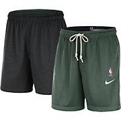 Nike Men's Milwaukee Bucks Green Dri-FIT Reversible Standard Issue Shorts