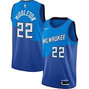 Nike Men's 2020-21 City Edition Milwaukee Bucks Khris Middleton #22 Dri-FIT Swingman Jersey