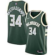 Nike Men's Milwaukee Bucks Giannis Antetokounmpo #34 Green Icon Jersey