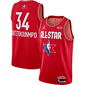 Jordan Men's 2020 NBA All-Star Game Giannis Antetokounmpo Red Dri-FIT Swingman Jersey