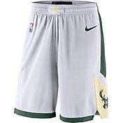 Nike Men's Milwaukee Bucks White Dri-FIT Swingman Shorts