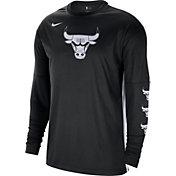 Nike Men's Chicago Bulls Black Tonal Dri-FIT Long Sleeve Shooting Shirt