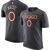 Nike Men's 2020-21 City Edition Chicago Bulls Coby White #0 Cotton T-Shirt