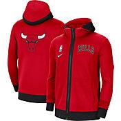 Nike Men's Chicago Bulls Red Therma Flex Full-Zip Hoodie