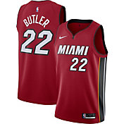 Nike Men's Miami Heat Jimmy Butler #22 Red Dri-FIT Statement Swingman Jersey