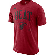 Nike Men's Miami Heat Dri-FIT Arch Wordmark Slub Red T-Shirt