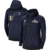 Nike Men's Utah Jazz Navy Therma Flex Full-Zip Hoodie