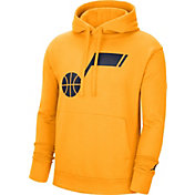 Jordan Men's Utah Jazz Yellow Statement Pullover Hoodie