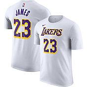 Nike Men's Los Angeles Lakers LeBron James #23 Dri-FIT White T-Shirt