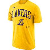 Nike Men's Los Angeles Lakers Dri-FIT Arch Wordmark Slub T-Shirt