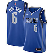 Nike Men's Dallas Mavericks Kristaps Porzingis #6 Blue Icon Jersey