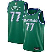 Nike Men's Dallas Mavericks Luka Doncic #77 Green Hardwood Classic Swingman Jersey