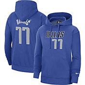 Nike Men's Dallas Mavericks Luka Doncic #77 Blue Hoodie