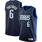 Nike Men's Dallas Mavericks 2021 Earned Edition Kristaps Porzingis Dri-FIT Swingman Jersey